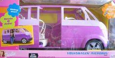 "Barbie VOLKSWAGEN MICROBUS Vehicle VAN (Purple) w Working HORN & SLIDING DOOR - Seats 6 Barbie or 11.5"" Fashion Dolls (2002) -- Learn more by visiting the image link. Barbie Bike, Barbie Doll Car, Baby Barbie, Barbie Sets, Barbie And Ken, Barbie Princess, Barbie Stacie Doll, Kids Doctor Kit, Barbie Playsets"
