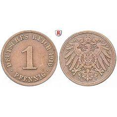 Deutsches Kaiserreich, 1 Pfennig 1896, A, f.st, J. 10: Kupfer-1 Pfennig 1896 A. J. 10; fast stempelfrisch, leicht fleckig 16,50€ #coins