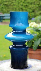 Mold-blown cased-glass vase by Bo Borgstrom for Aseda, Sweden.