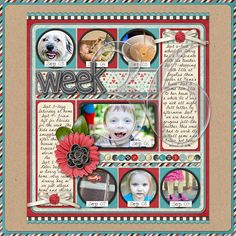 p365 Week 36 - Scrapbook.com love the idea to do a page per week!