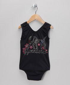 Another great find on #zulily! Black & Pink 'Gymnastics' Leotard - Girls #zulilyfinds