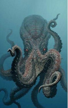 Bones has a phaser that he can shoot at Giant Octopus. Giant Octopus may be big but after some phaser fire then Giant Octopus is gone. This Octopus isn't doing good. Underwater Creatures, Underwater Life, Ocean Creatures, Underwater Animals, Scary Sea Creatures, Beautiful Creatures, Animals Beautiful, Cute Animals, Animals Sea