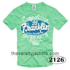 Mens Franklin Marshall Short Sleeve T Shirts 1984 Aquamarine