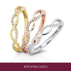 Make Mom shine with the perfect Mother's Day gift- Diamond Infinity Rings, only from Helzberg.