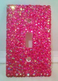 Rhinestone Light Switch Plate...this would be so easy to make!