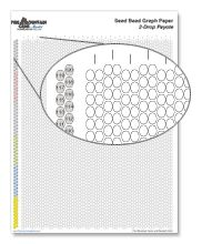 Peyote stitch - Printable Seed Bead Graph Paper - Fire Mountain Gems and Beads Peyote Stitch Patterns, Seed Bead Patterns, Beading Patterns, Jewelry Patterns, Beading Techniques, Beading Tutorials, Beading Projects, Video Tutorials, Seed Bead Jewelry