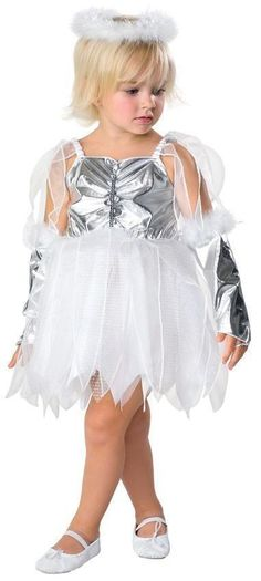 Your toddler girl will look heavenly in this adorable angel costume for Halloween or Christmas. Designed for little girls age 2 to this fancy costume . Toddler Angel Costume, Cute Angel Costume, Angel And Devil Costume, Toddler Dress Up, Toddler Halloween Costumes, Halloween Kids, Toddler Girls, Happy Halloween, Fancy Costumes
