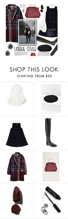 """""""Unique Style - exact match"""" by federica-m ❤ liked on Polyvore featuring Brandon Maxwell, Urban Outfitters, Stuart Weitzman, Flynn, CÉLINE, Mix & Match, Lipstick Queen and Bobbi Brown Cosmetics"""