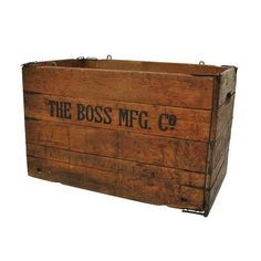 Rustic Wooden Crate / Wooden Box / Folding Crate by midmoderngoods