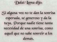 #DalaiLama #sonrisa #sonríe #vida