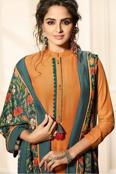 Wholesale Designer Maslin Silk Straight Salwar SuiStitched In Free Size. Neck Designs For Suits, Sleeves Designs For Dresses, Neckline Designs, Dress Neck Designs, Blouse Designs, Salwar Designs, Kurta Designs Women, Kurti Designs Party Wear, Pakistani Fashion Casual
