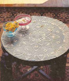 Patrón #382: Tapete para mesita a Crochet #ctejidas http://blgs.co/K99ICH