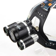 3x CREE XM-L T6 2R5 LED 6000 Lumen Headlamp Headlight Head Light LAMP Flashlight
