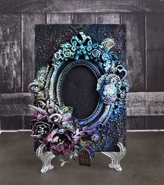 Photo frame for ColourArte, critical eye, MK video Best Picture For Painting M- Altered Canvas, Altered Art, Mixed Media Collage, Mixed Media Canvas, Mixed Media Tutorials, Scrapbooking, Idee Diy, Frame Crafts, Arte Floral