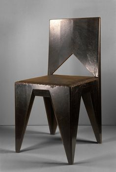 Vlastislav Hofmann, Cubist Chair, 1911.  Is this chic or what?