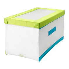 KUSINER Box with lid IKEA Low storage to match your child's height; makes it easier for them to reach and organize their things.