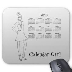 2016 Calendar Girl by Janz Mouse Pad