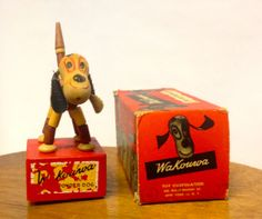 Items similar to Wakouwa Animated Toy Dog from the with Original Box, Vintage Children's Toy, Antique Collectible Figurine on Etsy Vintage Stuff, Vintage Toys, Collectible Figurines, Vintage Children, Dog Toys, Attic, Puppets, Childhood Memories, Animation