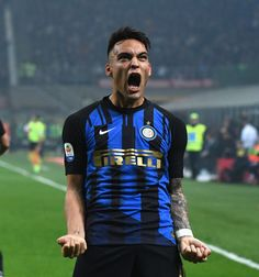Lautaro Martinez of FC Internazionale celebrates after scoring the. Big Sur, Ac Milan, Soccer Players, Scores, Derby, Football, Guys, Celebrities, Bomber