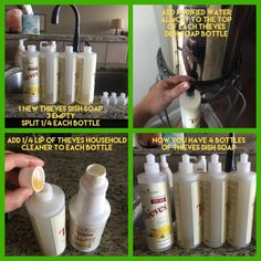Young Living Essential Oils Diy thieves dish soap Acne and Vitamin Supplements Since the majority of Thieves Essential Oil, Essential Oils Cleaning, Essential Oil Uses, Natural Essential Oils, Natural Oils, Au Natural, Young Living Oils, Young Living Essential Oils, Young Living Thieves