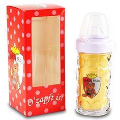 Nuckelkrug Bären Bräu Rot Baby Trinkflasche 18cm