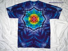 Large tie dye shirt Gildan ultra cotton tee Mandala Tie Dye for men and women tie dye t shirt by GratefulDan Grateful Dead tie dye shirt by GratefulDan on Etsy