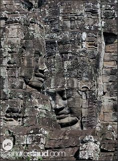 Lokeshvara faces at Bayon Temple, Angkor Thom, Cambodia Holiday In Cambodia, Cambodian Art, Cambodia Beaches, Angkor Wat Cambodia, Temple Ruins, Bali, Phnom Penh, The Places Youll Go, Beautiful Pictures