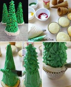 Christmas Tree Cupca