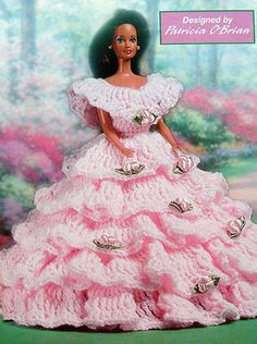 Crochet Pattern ~ FASHION DOLL PARTY DRESS ~ Instructions