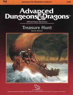 N4 Treasure Hunt (1e) | Book cover and interior art for Advanced Dungeons and Dragons 1.0 - Advanced Dungeons & Dragons, D&D, DND, AD&D, ADND, 1st Edition, 1st Ed., 1.0, 1E, OSRIC, OSR, Roleplaying Game, Role Playing Game, RPG, Wizards of the Coast, WotC, TSR Inc. | Create your own roleplaying game books w/ RPG Bard: www.rpgbard.com | Not Trusty Sword art: click artwork for source | Not Trusty Sword art: click artwork for source
