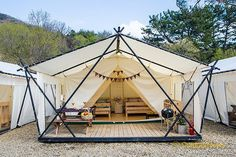 Tent Living, Outdoor Living, Gazebo, Pergola, Wall Tent, Bamboo Architecture, Tent Design, Luxury Tents, Dome Tent