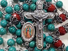 Rosary  Our Lady of Guadalupe Rosary by BellaDonnasShoppe on Etsy