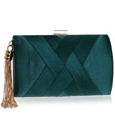 SMALL METAL CLUTCH WITH TASSEL MULTIPLE COLORS CRUELTY-FREE ($70) ❤ liked on Polyvore featuring bags, handbags, clutches, multi color handbag, multi color purse, blue purse, blue clutches and cruelty free handbags