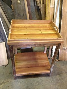 Elegant Tray Table Made From Reclaimed Wood By Landrum Table In Charleston SC  Http://