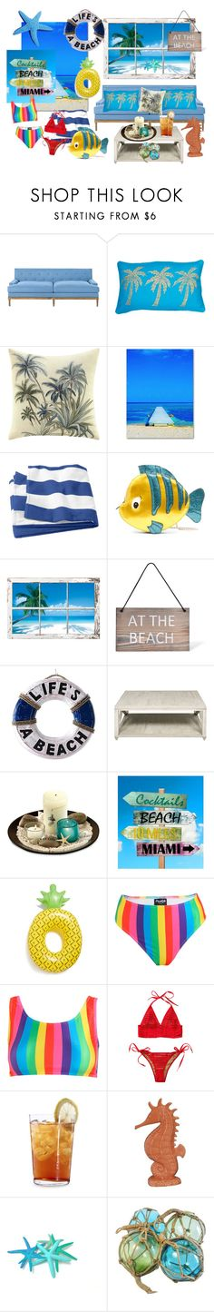 """""""Life´s a beach"""" by samy-lady ❤ liked on Polyvore featuring Tommy Bahama, Trademark Fine Art, Danielle Nicole, Garden Trading, NOVICA, Big Mouth, Beach Bunny, Schott Zwiesel and Fitz & Floyd"""