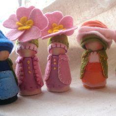 Primrose Garden Gnome Waldorf Storytelling Natural dollhouse play. $32.00, via Etsy.