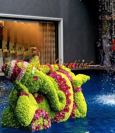 Ganesh Chaturthi Ideas - The Prettiest Pooja Decor and the most amazing Ganesh idols we've seen! - Witty Vows - Cute floral Ganesh jiwith red and green flowers Country Wedding Centerpieces, Wedding Hall Decorations, Wedding Entrance, Garland Wedding, Wedding Stage, Flower Decorations, Indian Wedding Receptions, Wedding Mandap, Telugu Wedding