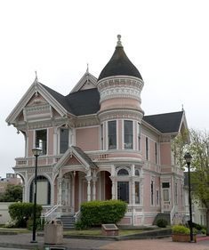 18 x 24 Photograph reprinted on fine art canvas of Historic Victorian home in Eureka California 2012 by Highsmith, Carol M. Luxury Homes Dream Houses, Luxury Homes Interior, Dream Homes, Dream House Exterior, Dream House Plans, Pink Houses, Old Houses, Style At Home, Beautiful Buildings