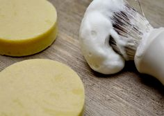 Shaving Soap Recipe with Stearic Acid // Looking for a great traditional shaving soap recipe using dual lyes? Look no further! This simple and skin-loving shaving soap is just the ticket!