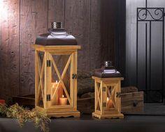 Hayloft Wooden Candle Lanterns