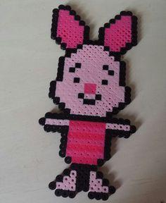 Baby Piglet perler beads by Scarlett-Ibis