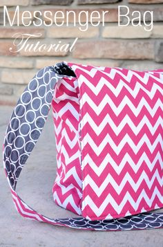 Make a pretty messenger bag.