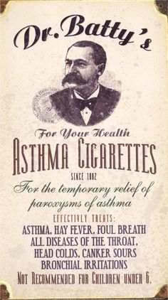 Cigarros para el asma del Dr. Batty (1882)