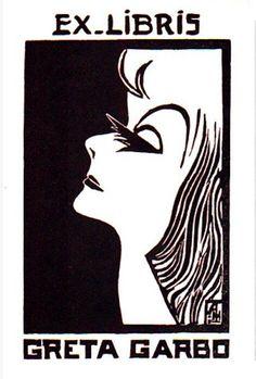 Greta Garbo's Bookplate