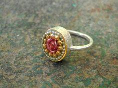 Silver ring Rose ring  Sterling silver ring  metal by hilawelner, $52.00