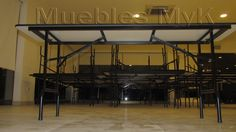 Basketball Court, Music Stand, Metal Furniture, Table And Chairs