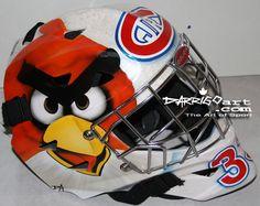#AngryBirds #hockey goalie mask. Awesome.