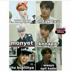 New memes bts sub indo Ideas Memes Funny Faces, Funny Kpop Memes, Kid Memes, Love Memes, Best Memes, Girl Humor, Mom Humor, Reaction Face, Funny Relationship Memes