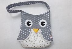 Umhängetaschen - Eule Tasche -grau - ein Designerstück von lene-le bei DaWanda