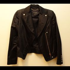 Christian Weber Black Satin Jacket Slightly used in great condition. Black. Satin. Christian Weber Jackets & Coats